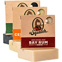 Dr. Squatch Men's Soap Variety Pack – Manly Scent Bar Soaps: Pine Tar, Cedar Citrus, Bay Rum – Handmade with Organic…