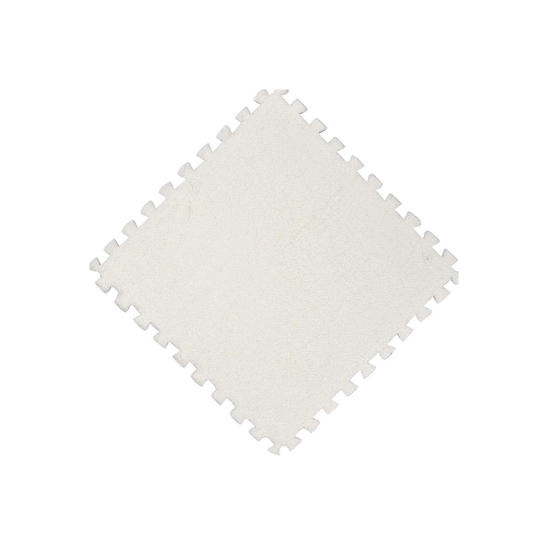 25X25cm Kids Carpet Foam Puzzle Mat EVA Shaggy Velvet Baby Eco Floor 7 colors HY