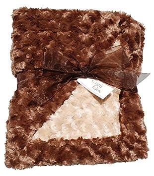 Amazon.com: Rosebud de lujo manta de bebé, color café y ...