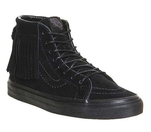 5c4ef0bcfe Amazon.com  Vans Unisex Sk8-Hi Moc Black Black Sneaker - 3.5  Shoes
