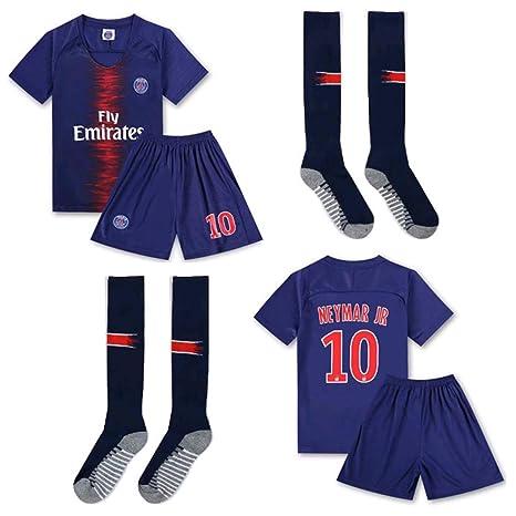 PLYY Uniforme de fútbol para niños Manga Corta para niños décimo ...