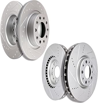 Front And Rear Brake Disc Rotors For 2013 2014 2015 2016 DODGE DART