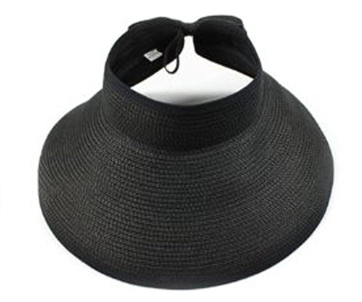 Strand Sonnenblenden faltbare Roll Up Wide Brim Strohh/üte M/ütze Butterme Mode M/ädchen Dame Frauen Visier Hut