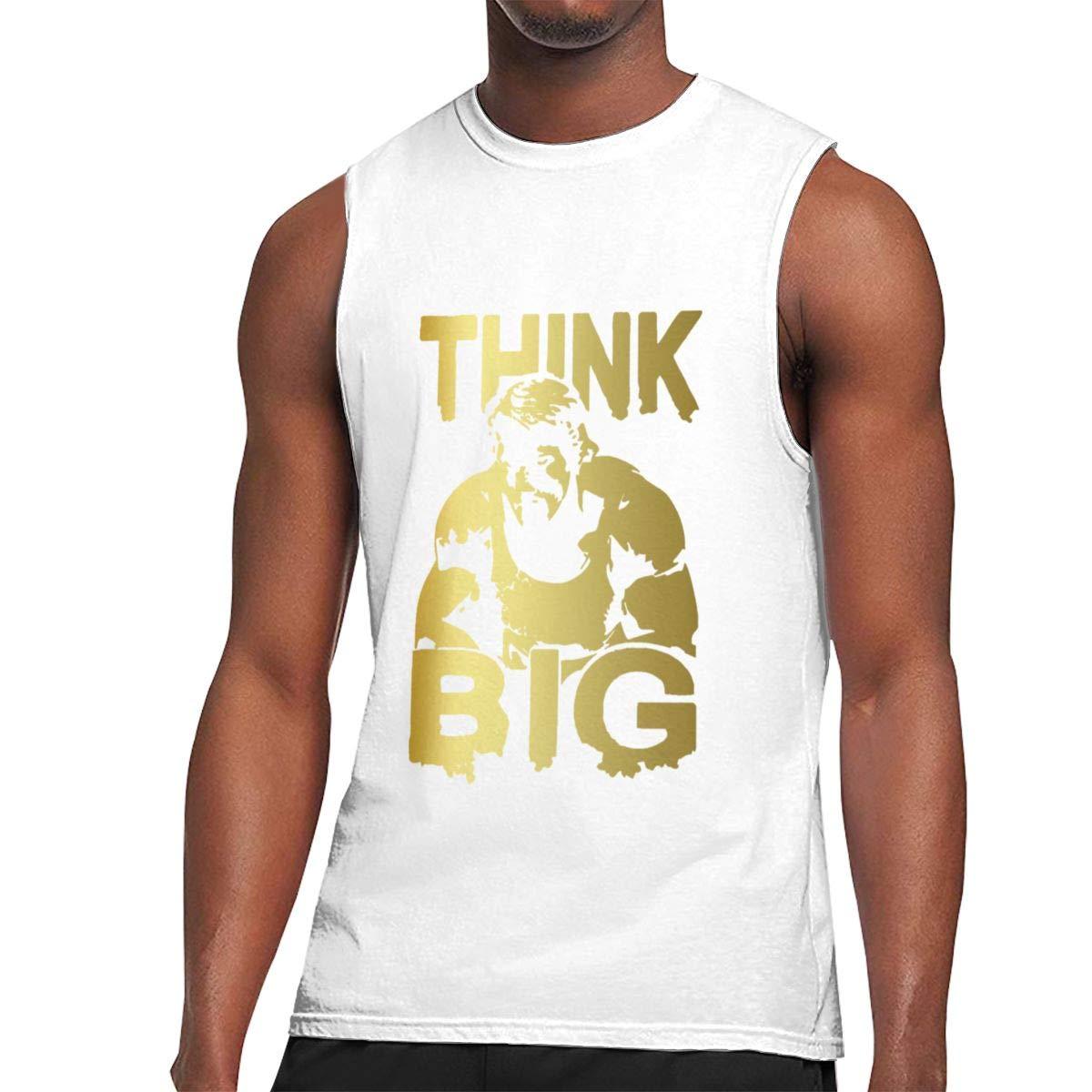 Seuriamin Think Big Arnold Schwarzenegge S Ultra Soft Hiking Sleeveless Muscle Short Sleev