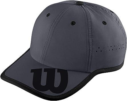 Wilson Gorra, Brand Hat, Protección UV, Ajustable, Talla única, Gris ...