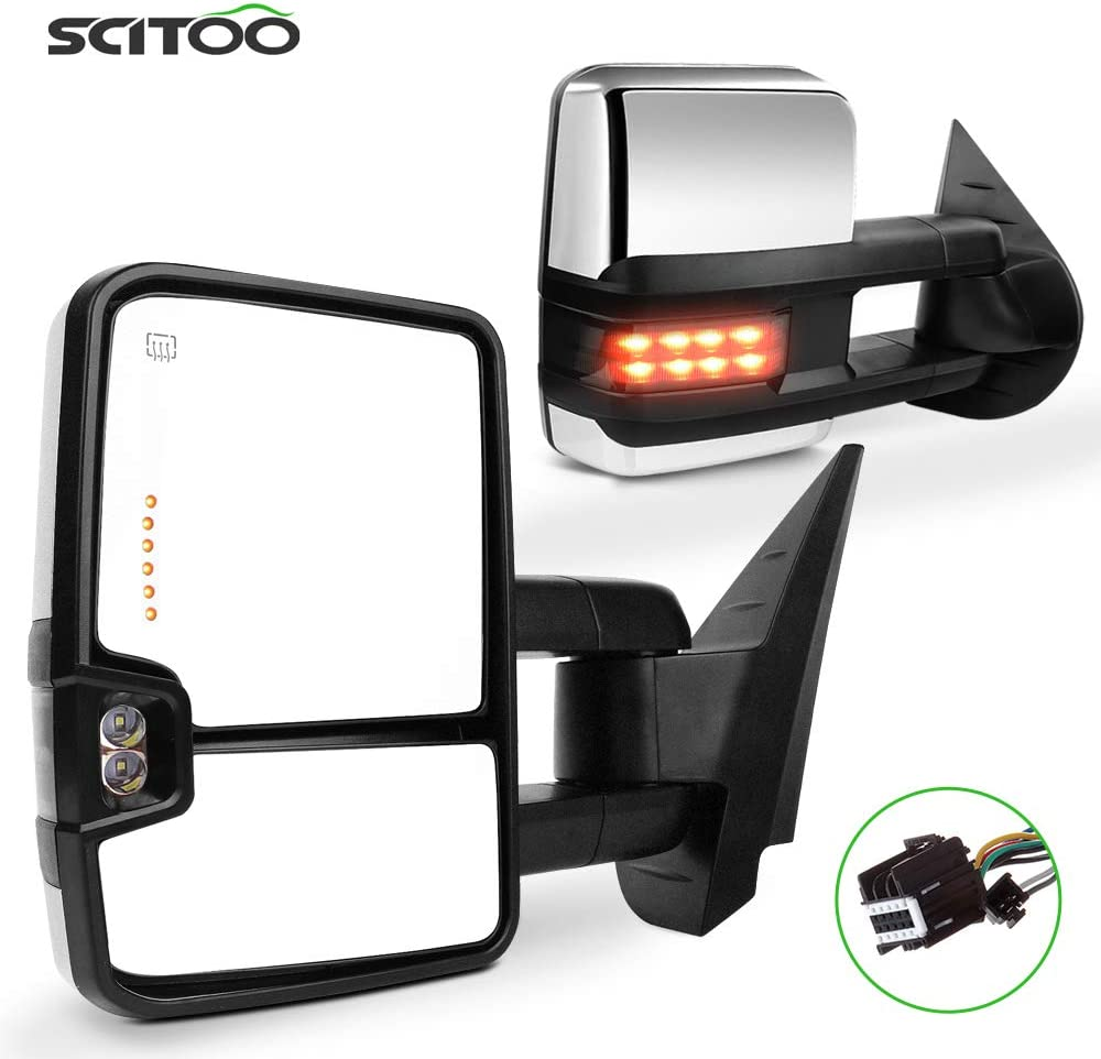Amazon.com SCITOO Towing Mirrors fit for Chevy for GMC Automotive ...