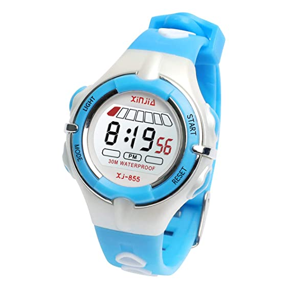 Boys Girls Watch, Functional Sporty Kids Digital Watch Waterproof Time Date Displays/Backlight/Alarm/Chime/Stopwatch Children Wrist Watch with ...