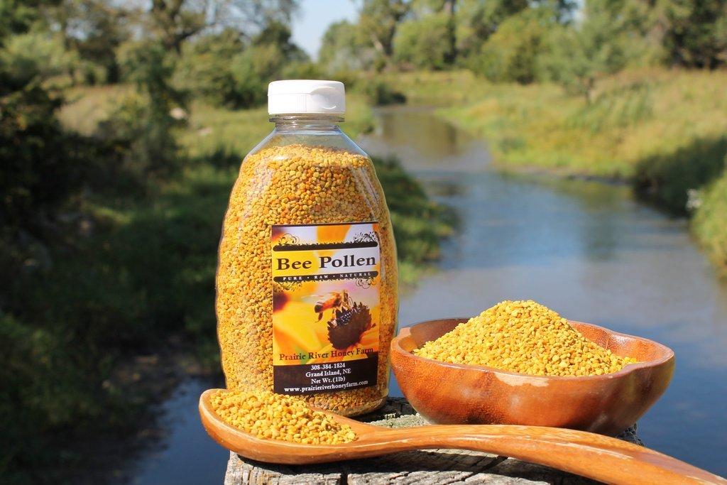 Fresh Bee Pollen Pure Raw Natural Nebraska Bee Pollen 1lb Jar