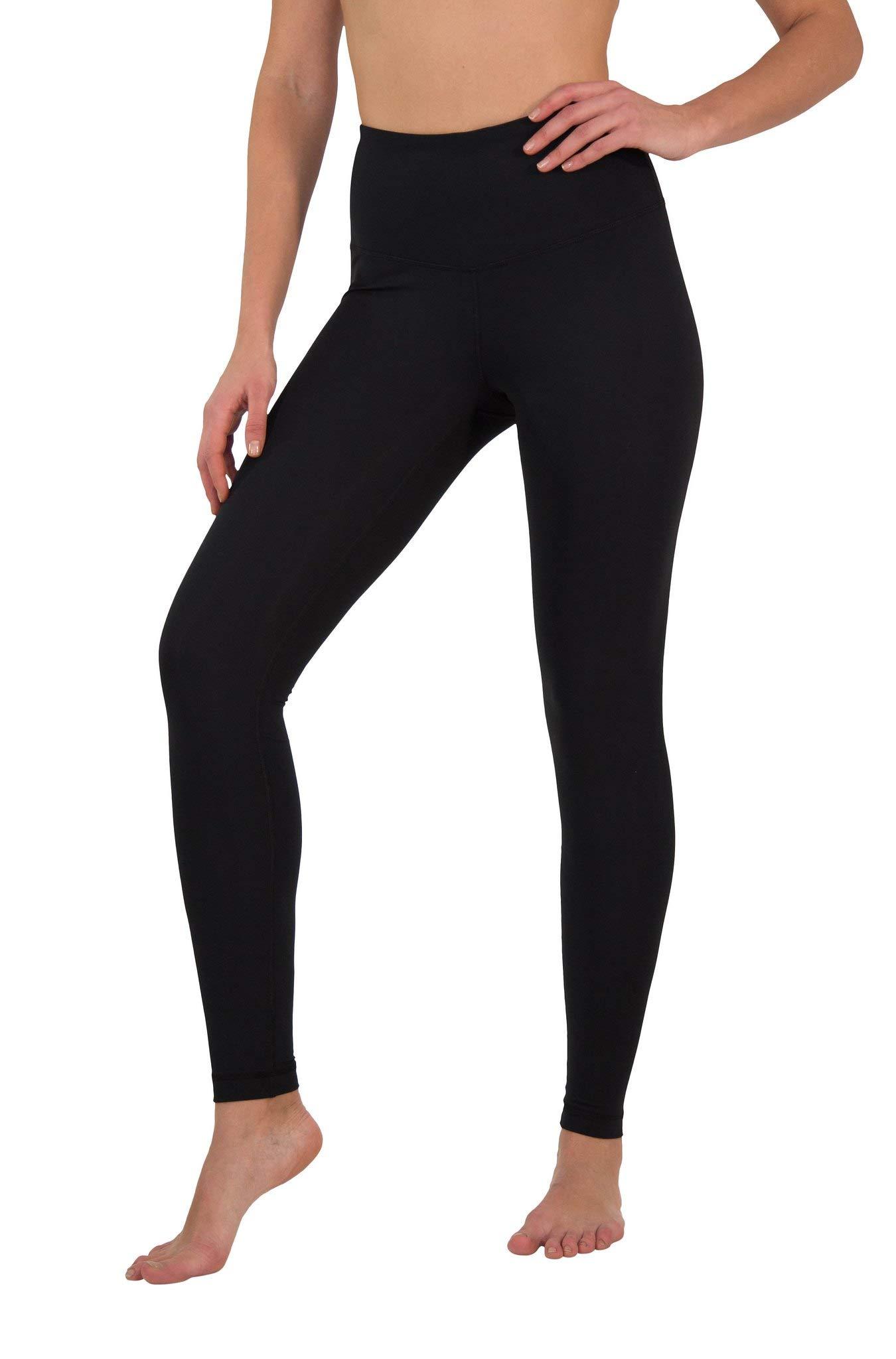 Yogalicious High Waist Ultra Soft Lightweight Leggings - High Rise Yoga Pants - Black - XS by Yogalicious