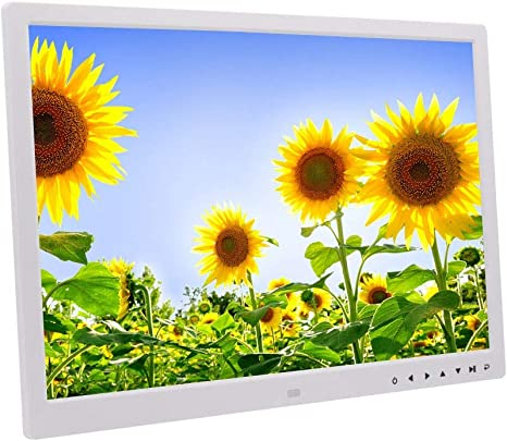 Color : White, Size : Free zize HANXIAODONG 17 Inch Large Digital Picture Frame 1440/×900 Pixels High Resolution Smart Electronic Frame Auto On//Off Timer Remote Control Included