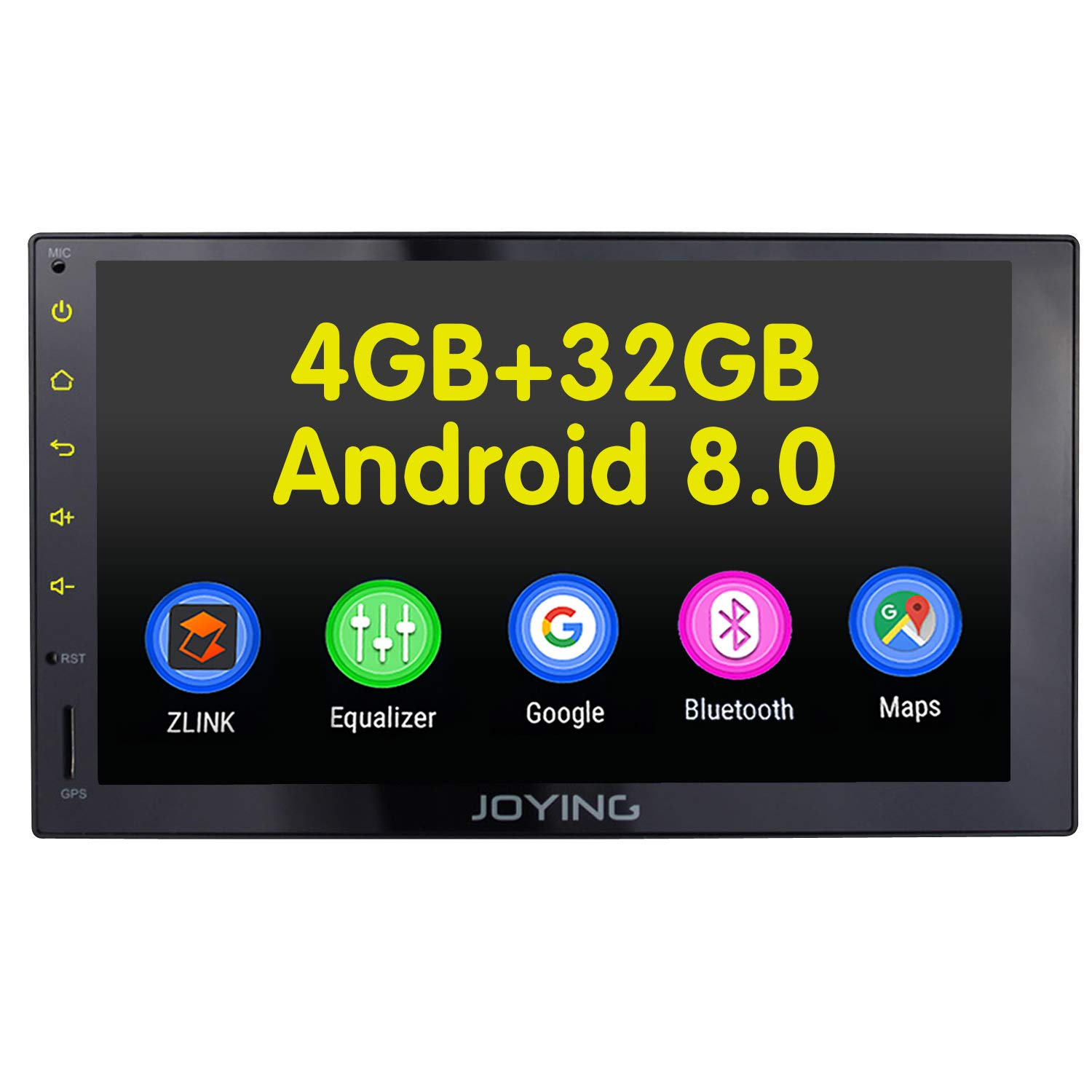 JOYING Car Radio 4GB + 32GB Android 8 0 7 inch Double Din with Zlink &  Android Auto Support Fast Boot DVR OBDII RCA Rear Camera