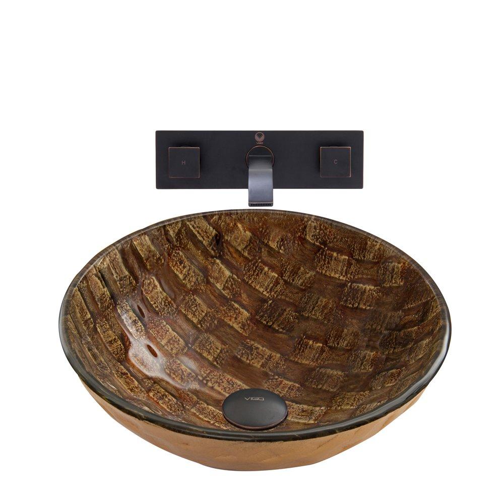 Outlet vigo playa glass vessel bathroom sink and titus - First outlet vigo ...