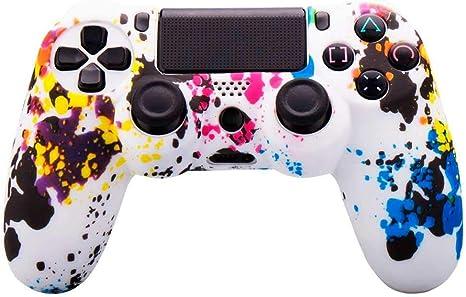 OcioDual Funda de Silicona Carcasa para Mando Sony PS4 PlayStation 4 Slim Pro Dualshock 4 Manchas de Colores: Amazon.es: Videojuegos