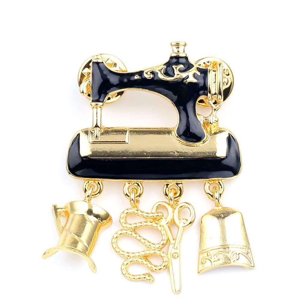 Romote 1pc Creative Machine /à Coudre Broches Poitrine Broche /él/égante Cristal Strass Pins Breastpin Bouquet De Mariage D/écor Convient pour Toutes Les Tenues