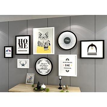GAOLIXIA Modern Einfach Dekorative Malerei Der Wohnzimmer Flur Vorraum  Wandbilder Rahmenkombinationen Dekoration Hauptwand,BlackAndWhite
