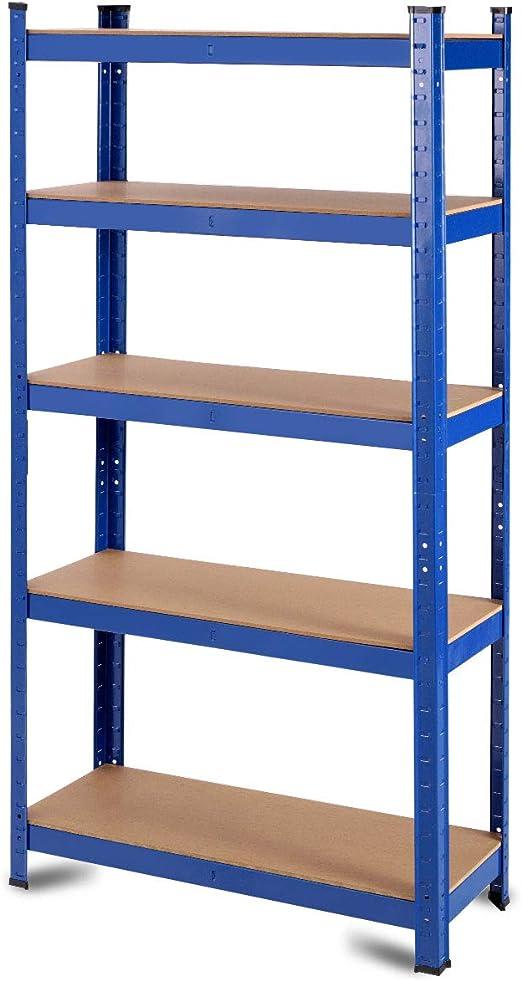 "Garage Shelving Unit Metal Storage Shelves 5-Shelf Steel 12/"" D x 30/"" W x 60/"" H"
