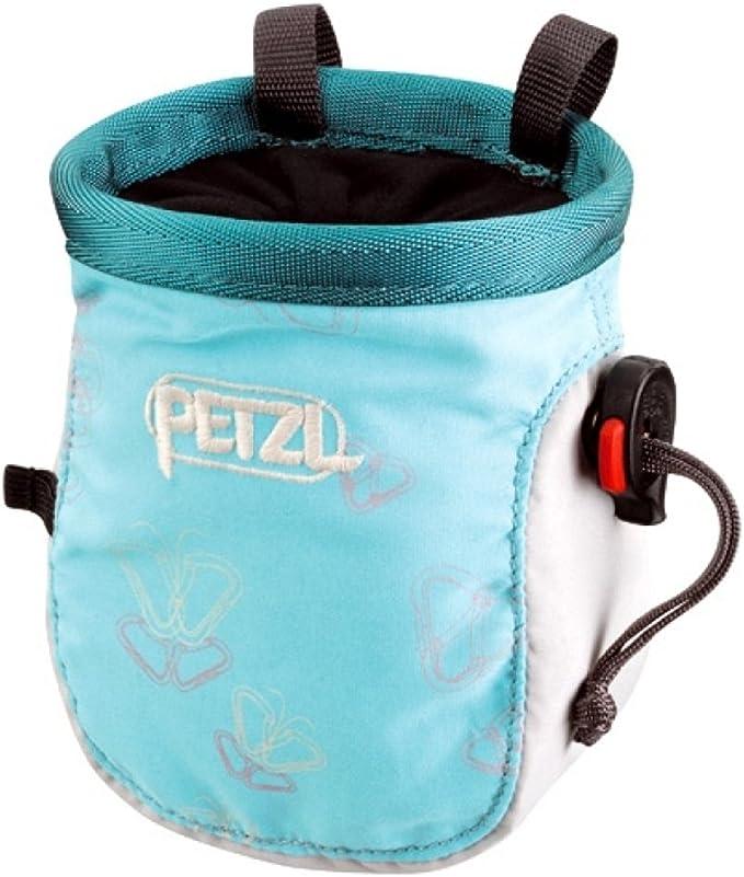 Petzl Koda - Bolsa de magnesio para escalada, poliéster, nylon y polipropileno, con cierre de cordón y anillas de sujeción, color - Radiant/Jade ...