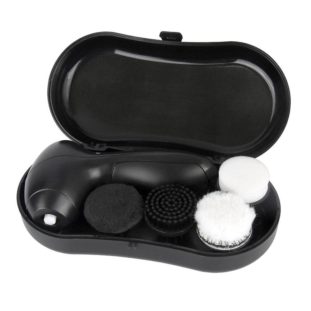 Electric Shoe Polish Kit Electric Shoe Polisher for Men Women,Shoes Scrubber Portable Handheld Shoes Cleaning Brush Kit for Leather Shoes by Aolvo (Image #2)