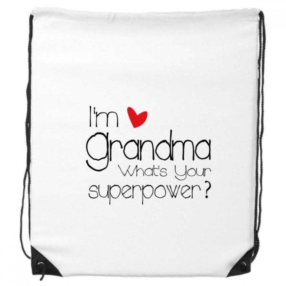 I 'm a la abuela ¿Cuál es su superpotencia mejor abuela cordón mochila líneas finas de compras regalo creativo bolso hombro Ambiental bolsa de poliéster DIYlab sku00134202f11618