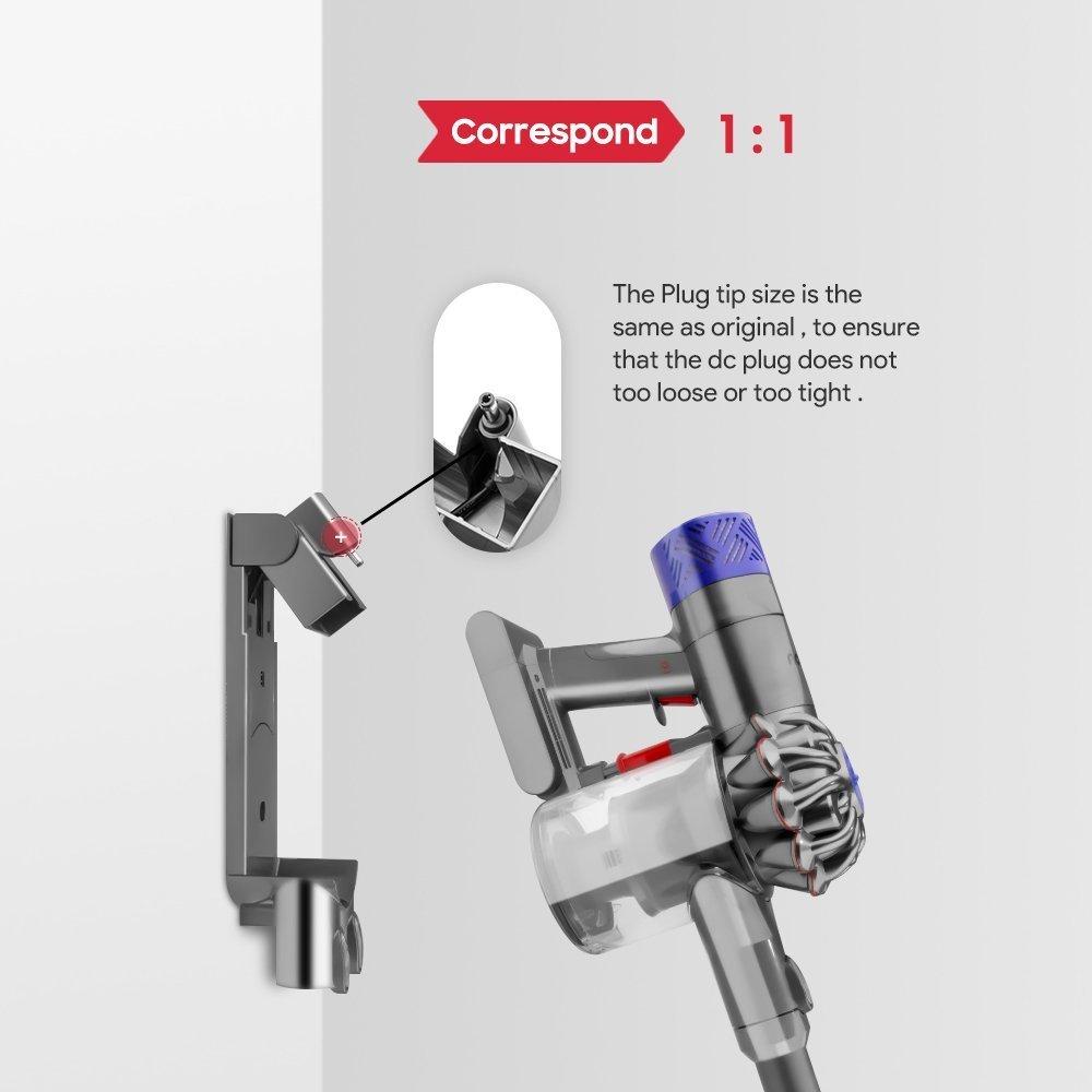 [UL Listed] TFDirect Power Adapter Charger for Dyson Cordless Vacuum Cleaner V8 V7 V6 SV03 SV04 SV06 SV07 SV09 SV10 SV11 (Absolute, Animal, Slim, Fluffy & Motorhead), Replace P/n:967813-02 965875-07 by TFDirect (Image #6)