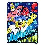 Spongebob Squarepants the Movie Leads the Way! Super Plush Throw 46''x60'' / 117cm x 152cm