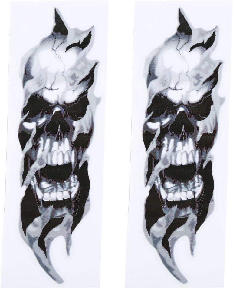 Qiilu Fork Skulls Stickers for Harley-Davidson Sportster Softail Dyna Electra Street Glide 2 Pcs