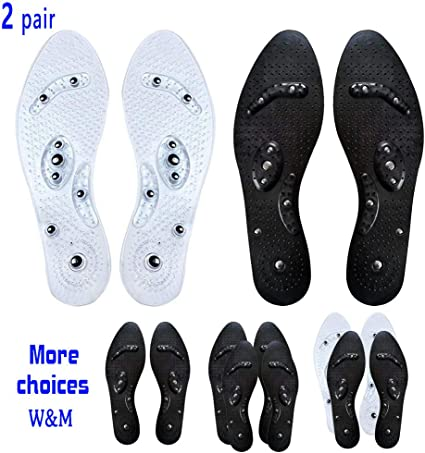 2 Pairs Mindinsole Silicone Insole Magnetic Therapy Anti Fatigue Massage Insoles