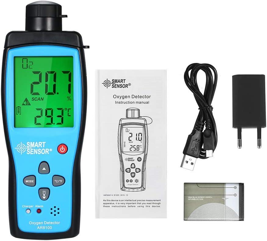 SMART SENSOR Docooler Sauerstoffmessger/ät Digitaler Sauerstoffpegelmonitor Tragbarer Kfz-O2-Gas Tester Monitor Detektor Hand Sauerstoffmessger/ät