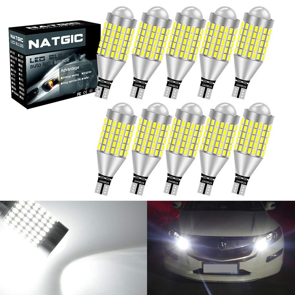 LIMASTAR 921 LED Bulb for Backup Reverse Lights Upgrade W16W T15 Canbus 2835 24-SMD Error Free Xenon White 6000K 2 pcs