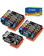 Double D 33XL inktcartridges voor Epson 33 XL werken met Epson Expression Premium-XP-640 XP-630 XP-635 XP-645 XP-540 XP-530 XP-830 XP-900 XP-7100 (4 zwart, 2 foto zwart, 2 cyaan, 2 magenta, 2 geel)