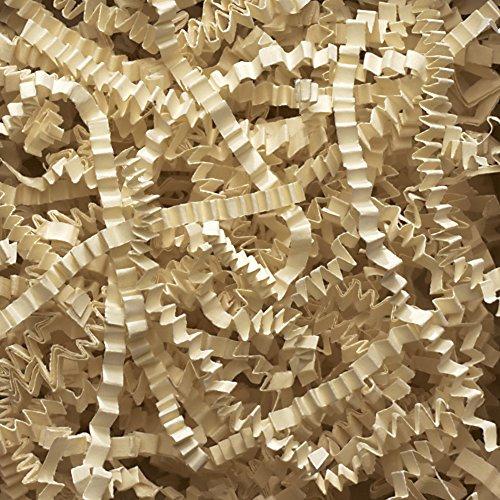 Aviditi CP10W Crinkle Cut Paper, 10 lbs per Case, Ivory by Aviditi