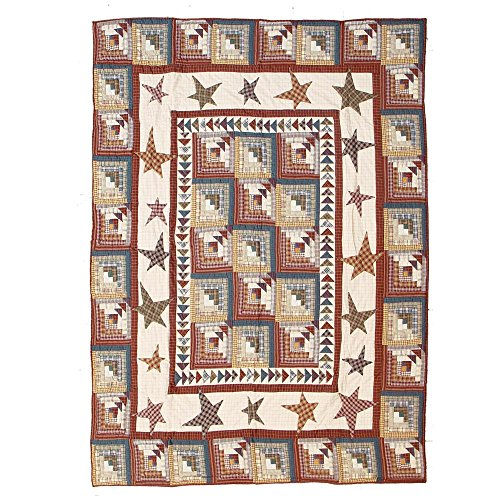 Patch Magic Luxury King Woodland Star and Geese Quilt, 120-Inch by 106-Inch