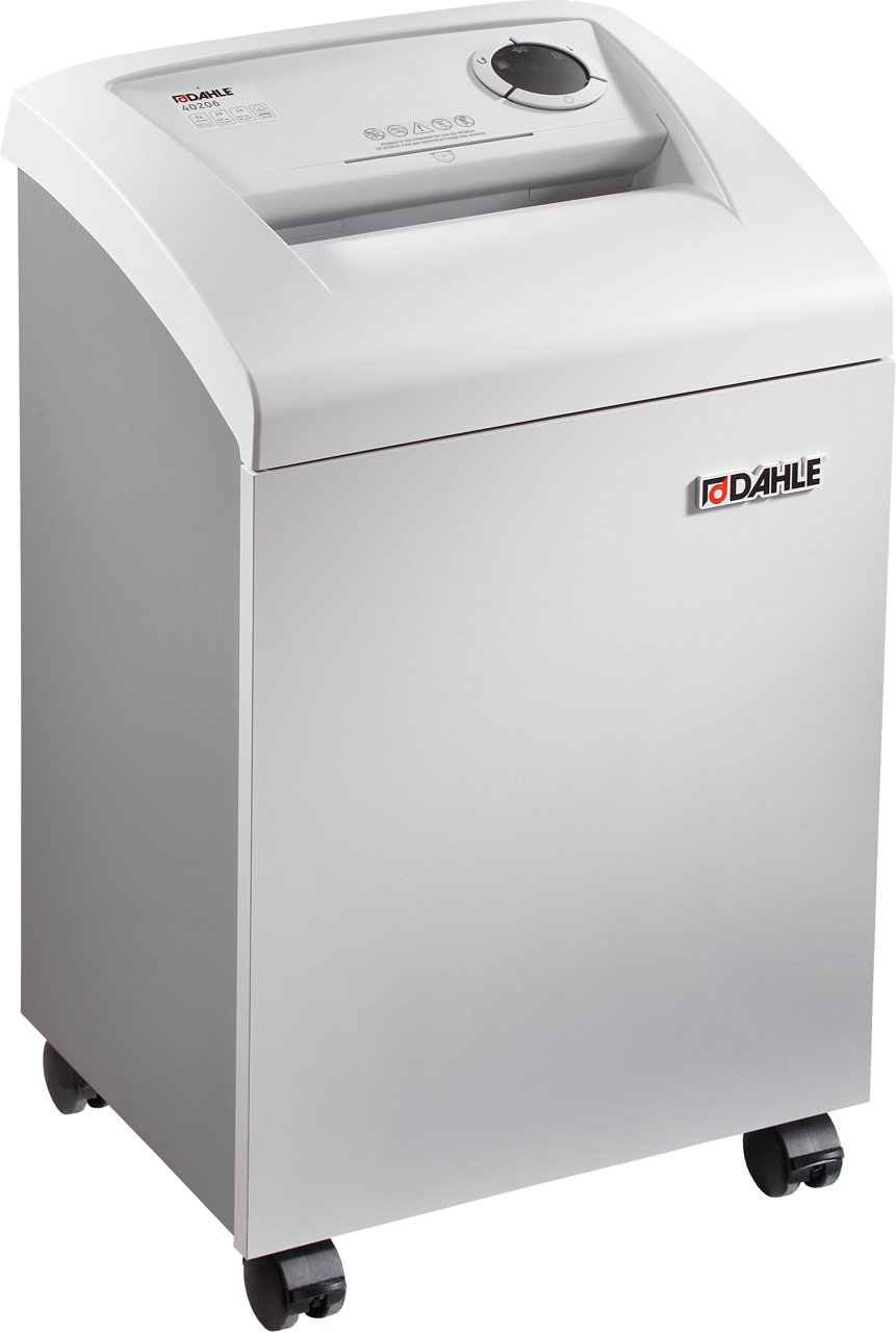 Dahle 40214 Small Office Shredder, 18-22 Sheet, Cross Cut, Shreds CDs, Staples, Paper Clips and Credit Cards, Security Level P-4
