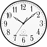DreamSky 13.5 Inches Extra Large Wall Clock for Living Room Decor - Silent Wall Clock Non-Ticking for Kitchen/Bedroom/Office,