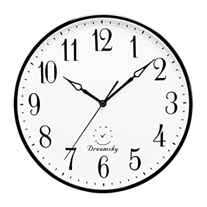 dreamsky 13 12 inch extra large wall clock non ticking silent - Kitchen Clock