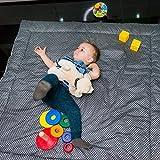 Algodon Manta de Juegos Infantil y Bebés 120 x 120 cm. XXL Cuadrada Alfombra Bebe para…