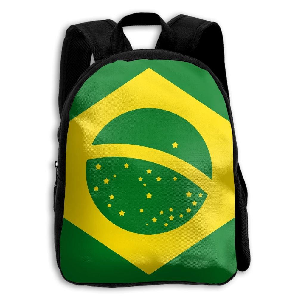YEWEI ドッグフラッグ ブラジル メンズ レディース 3D プリント ワイド ジッパー 学校 旅行 バッグ ショルダーバッグ 子供 バックパック   B07GCHNKDJ