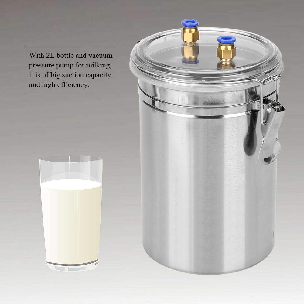 Yosoo 2L Electric Milking Machine Portable Stainless Steel Milker for Sheep Cows (110-240V)(Cows) by Yosoo (Image #3)