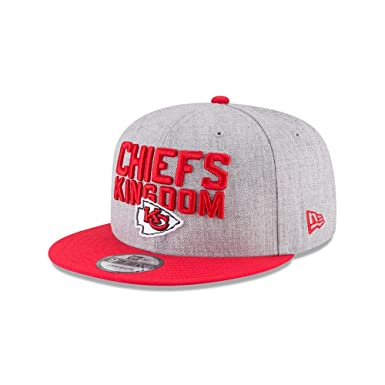 best sneakers ed532 adcde New Era Authentic Kansas City Chiefs Heather Gray Red 2018 NFL Draft  Official On-