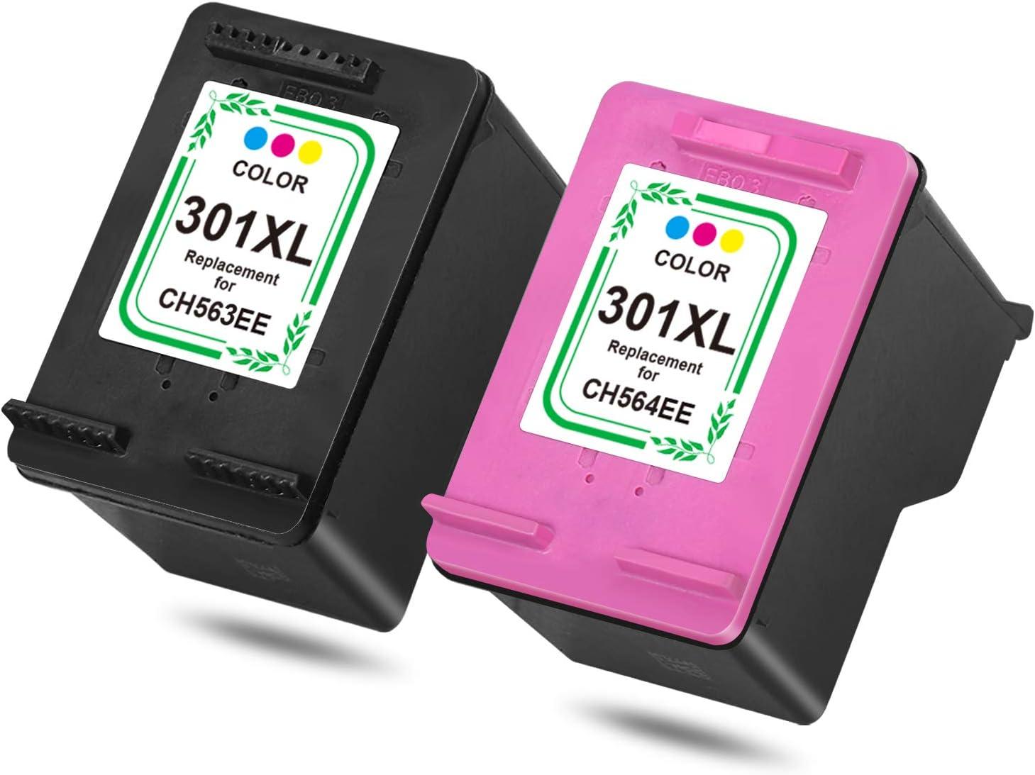 HP 301 X L Cartuchos de Impresora Multipack, Color 1 Schwarz, 1 Farben: Amazon.es: Oficina y papelería