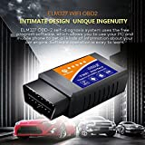 Car WIFI OBD 2, Wsiiroon Wireless OBD2 Car Code Reader Scan Tool ,Scanner Adapter Check Engine Diagnostic Toolfor iOS Apple iPhone iPad Air Mini iPod Touch & Andorid