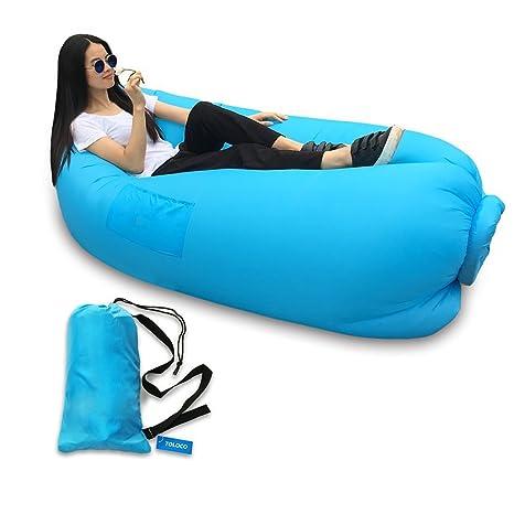 pandapanda hinchable Lounge sofá hamaca bolsa aire y piscina flotador barcos rápido. Ideal para uso en interiores o al aire libre Hangout o tumbona para ...