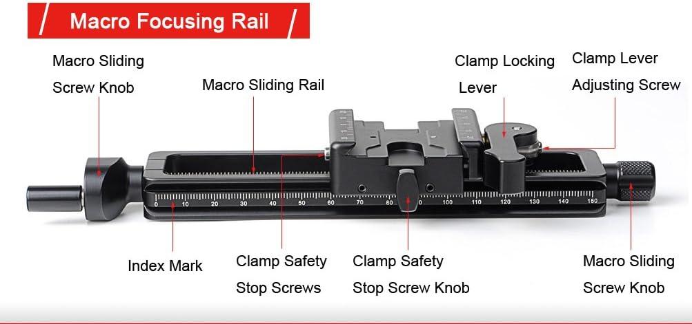 SUNWAYFOTO MFR-150 Aluminium 4-Way Macro Slider Macro Photography Tripod Oodaklama Macro Focusing Rail Slider Plate