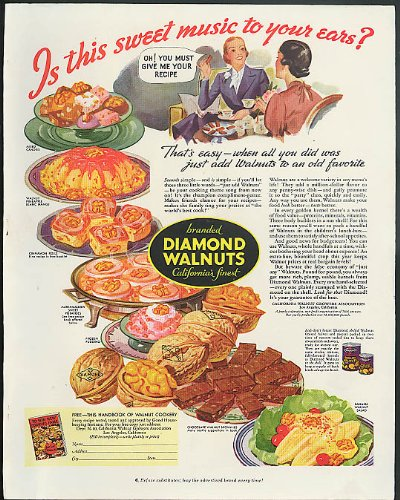 Is this sweet music to your ears? Diamond Walnuts ad - Music Walnut