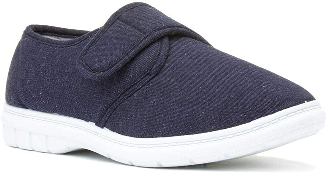Hobos Mens Canvas Shoe in Blue - Size 5