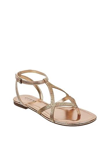 91dace1b339 GUESS Factory Women s Jalissa Rhinestone Strappy Sandals Light Pink
