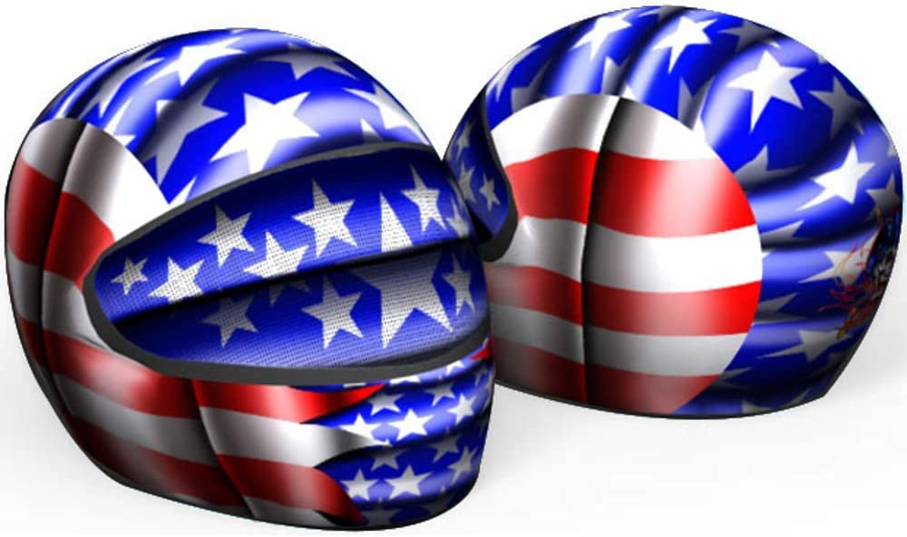 SkullSkins All American USA Flag Universal Full Face Motorcycle Helmet Cover Skin