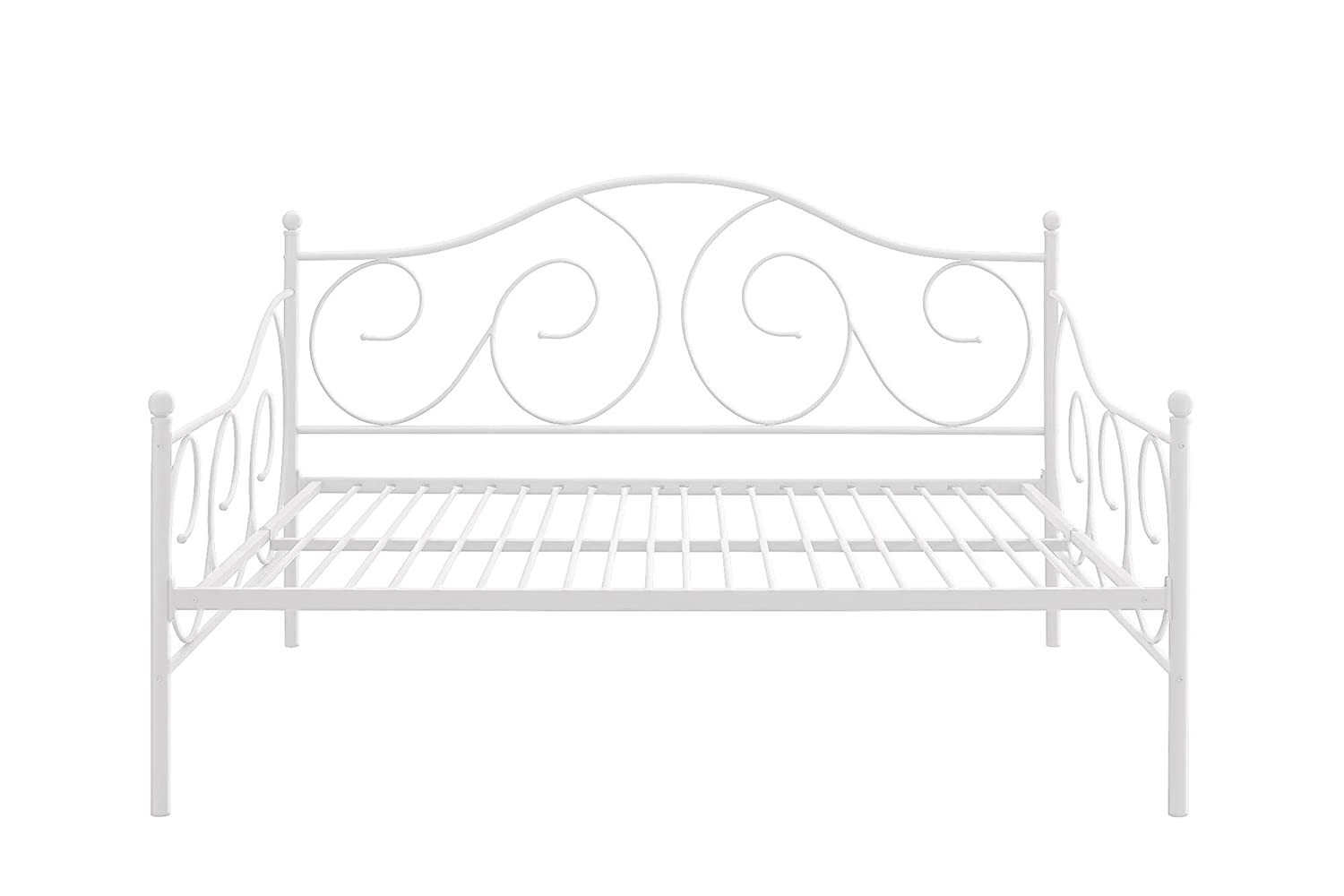 amazoncom dhp victoria full size metal daybed white kitchen u0026 dining