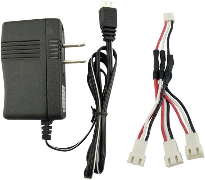 Adapter cable FairOnly 7.4V Batteria al Litio Caricatore per Hub-san X4 H502E H502S H501S Sy-ma X8 X8C X8G X8HG X8HW X8HC M-JX X101 V913 X6 Elicottero Caricatore EU plug