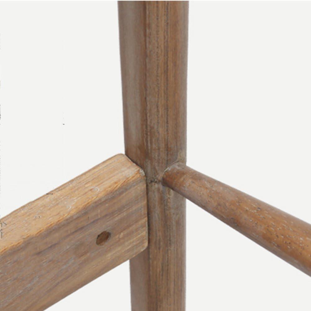 Sillas para Comedor-Silla De Comedor De Madera Maciza Retro Restaurante Hotel Casa Atrás Silla De Comedor Apoyabrazos Chino, 83 * 46 * 44 Cm ZHML Coffee Linen+round Wooden Frame